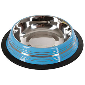 Pet Bowl Stainless Assorted Colour 450ml