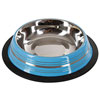 Pet Bowl Stainless Assorted Colour 200ml